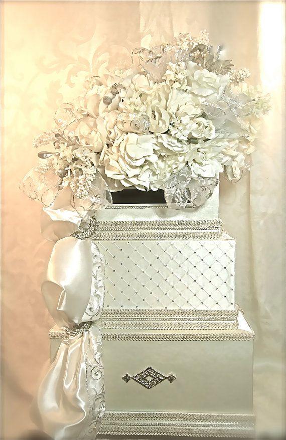 Diamond Wedding Card Box Holder Reception By WrapsodyandInk 13200