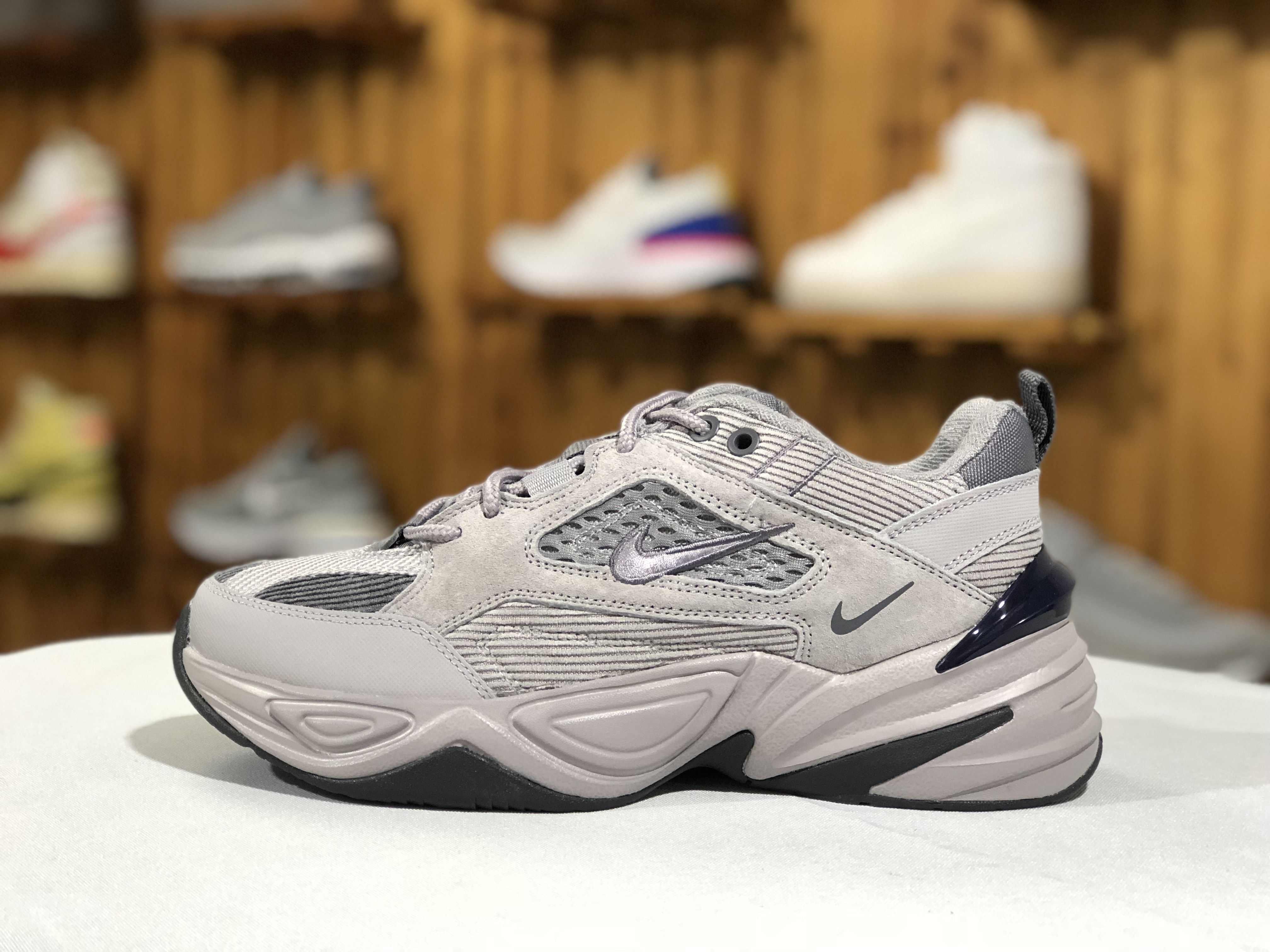 the best attitude 5363b cba18 Nike M2K Tekno Atmosphere Grey Dark Grey-Gunsmoke Mens Shoes