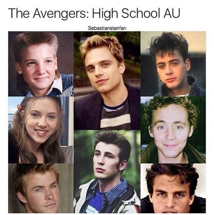 High school crush ! Whos your?___ Credit : Sebastianstanfan __#tonystark#ironma