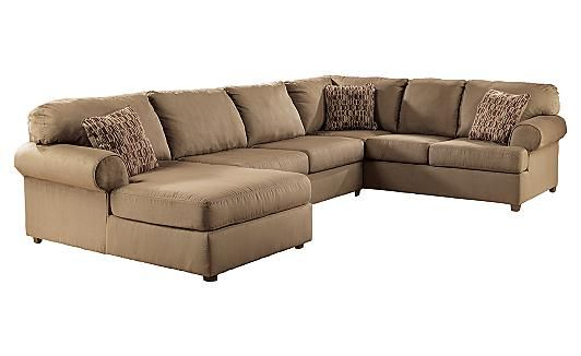Brody Mocha Sectional Ashley Furniture Home Couches