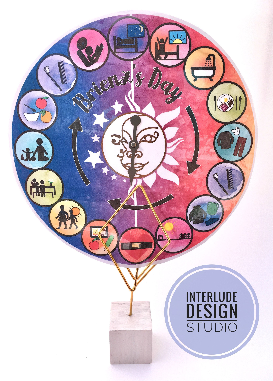 Chore Chart Rhythm Wheel Visual Calendar Custom Routine