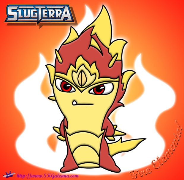Fire Elemental Slug Coloring Page From Slugterra Coloring Pages Detailed Coloring Pages Slugs