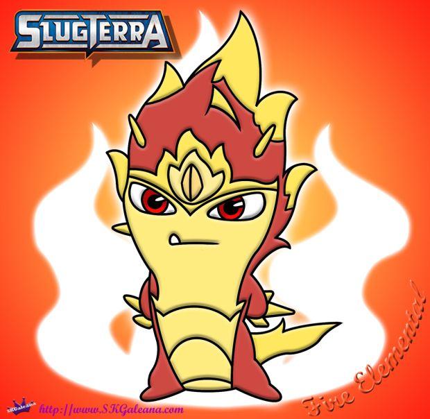 Fire Elemental Slug Coloring Page from SlugTerra ...