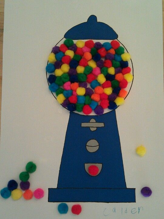 100th day gumball machine template