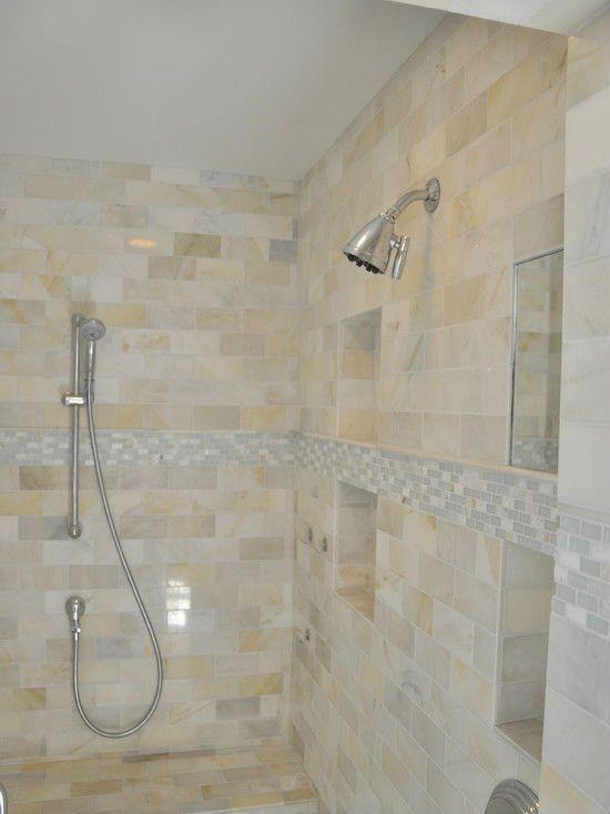 Bathroom Subway Tile Design Prepossessing Shell Mosaic Subway Tiles Wall Mother Of Pearl Tile Backsplash 2018