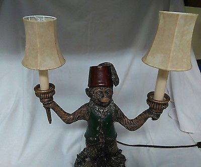 Pre owned bellhop monkey lamp with two lamp shades vintage pre owned bellhop monkey lamp with two lamp shades vintage aloadofball Gallery