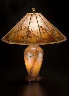 Lindsay fine Art Glass Lamp and Art Mica Lamp shade: Desert Tree ...:Lindsay fine Art Glass Lamp and Art Mica Lamp shade: Desert Tree - Sue  Johnson,Lighting