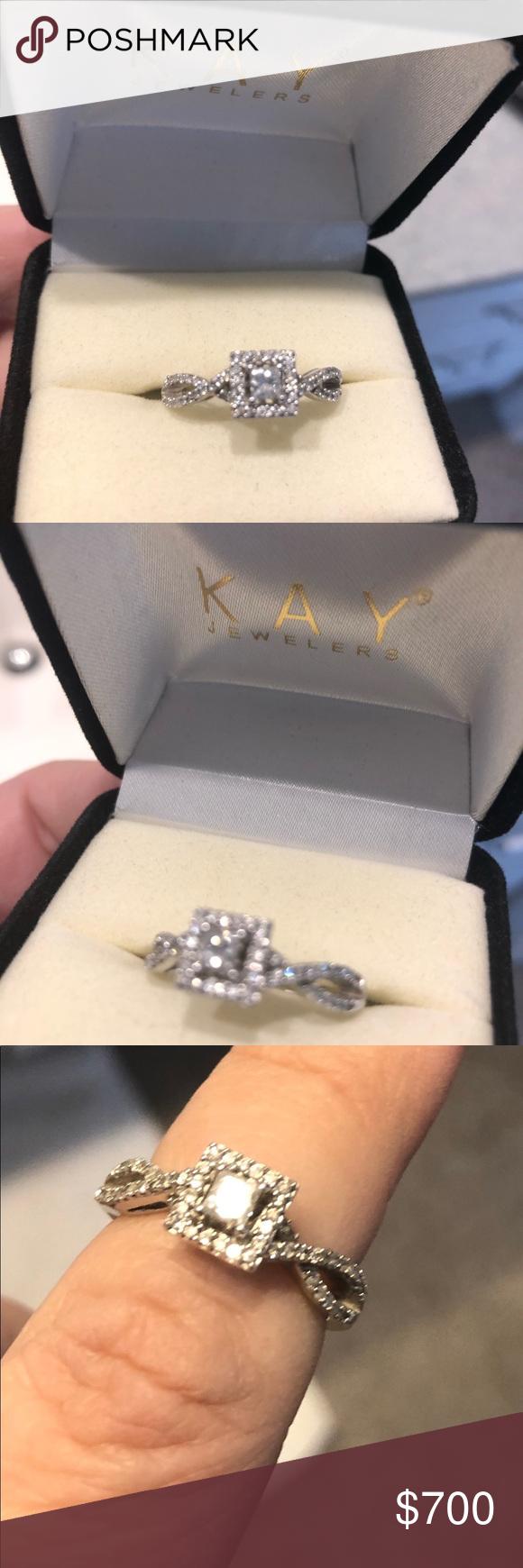 1 2 Karat 14k White Gold Engagement Ring 14k White Gold Engagement Rings White Gold Engagement 14k Engagement Ring