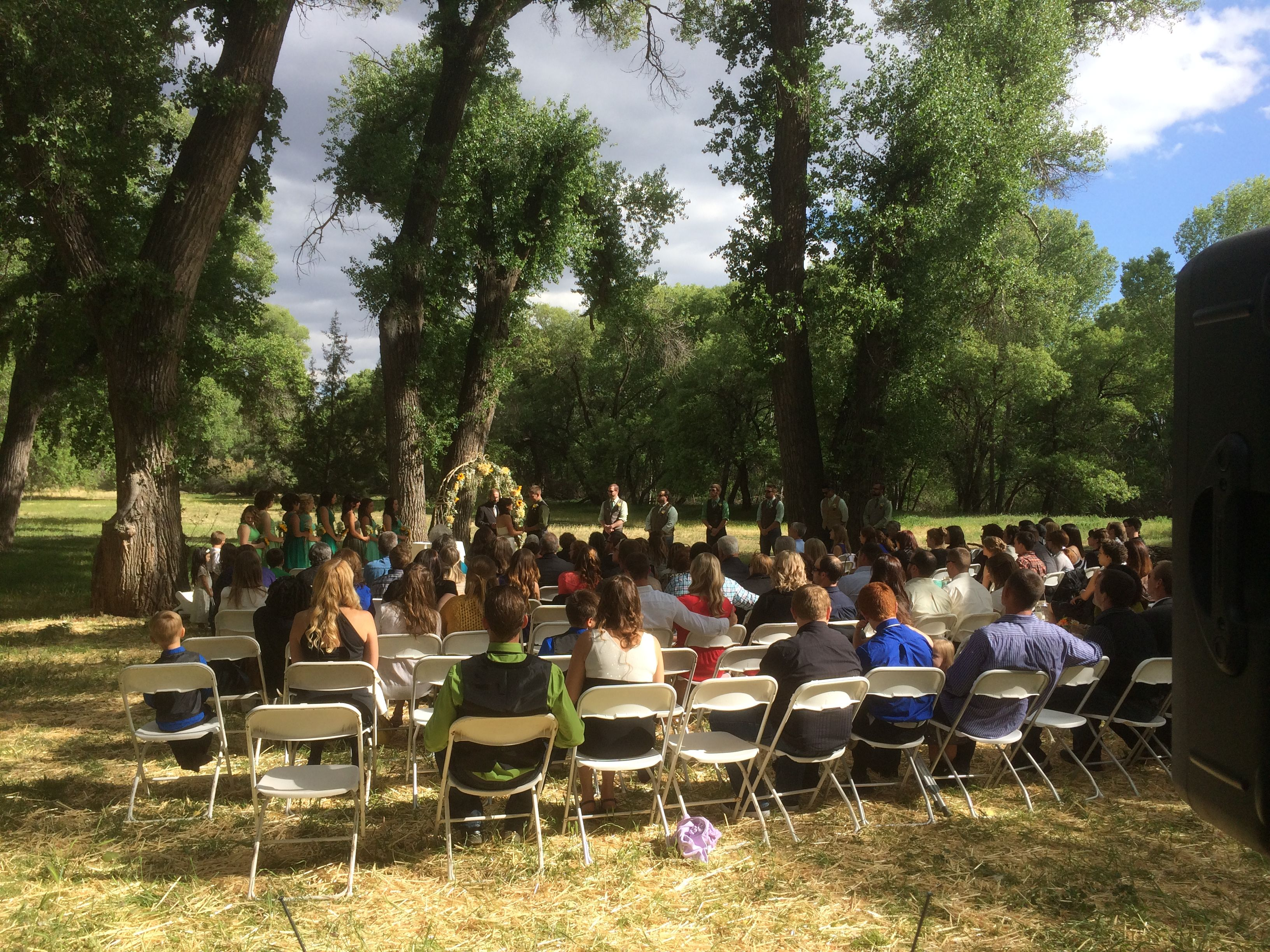 Wedding Ceremony In The Forest Outside Of Prescott Arizona