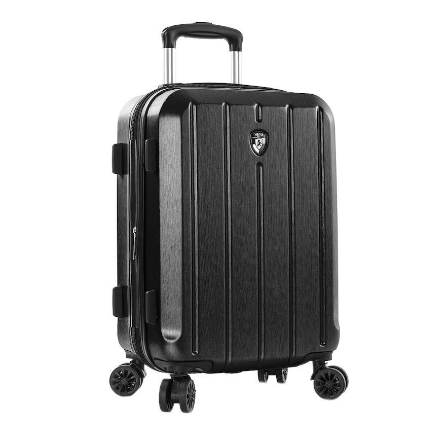 Kroeus PP Suitcase Luggage Lightweight TSA Lock Spinner Wheels 20 Black