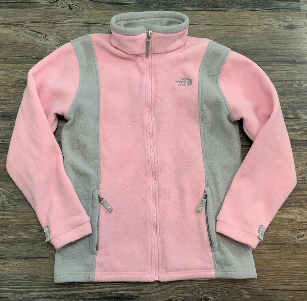 The North Face Jacket Fleece Full Sip Pink Gray Girls Sz Xl Ebay North Face Jacket North Face Puffer Jacket North Face Fleece Jacket [ 980 x 1000 Pixel ]