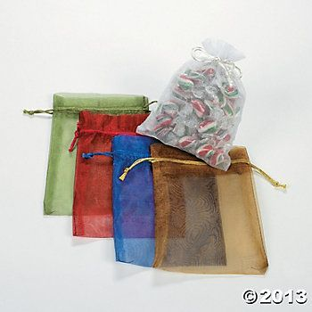 Large Sheer Mesh Drawstring Gift Bags