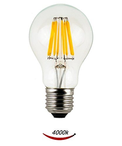 Lussuoso Lighting A19 10w Led Filament Bulb Replacement To 100w Incandescent Bulbs 1000 Lumens E26 Mediu Vintage Led Bulbs Filament Bulb Filament Bulb Lighting
