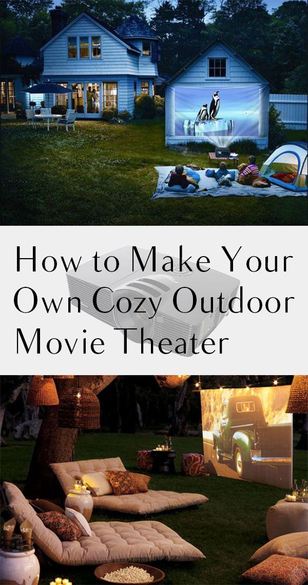 How to Make Your Own Cozy Outdoor Movie Theater Backyard