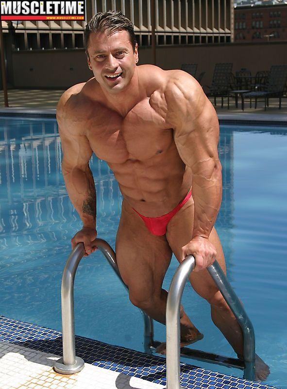 in muscle bikini man