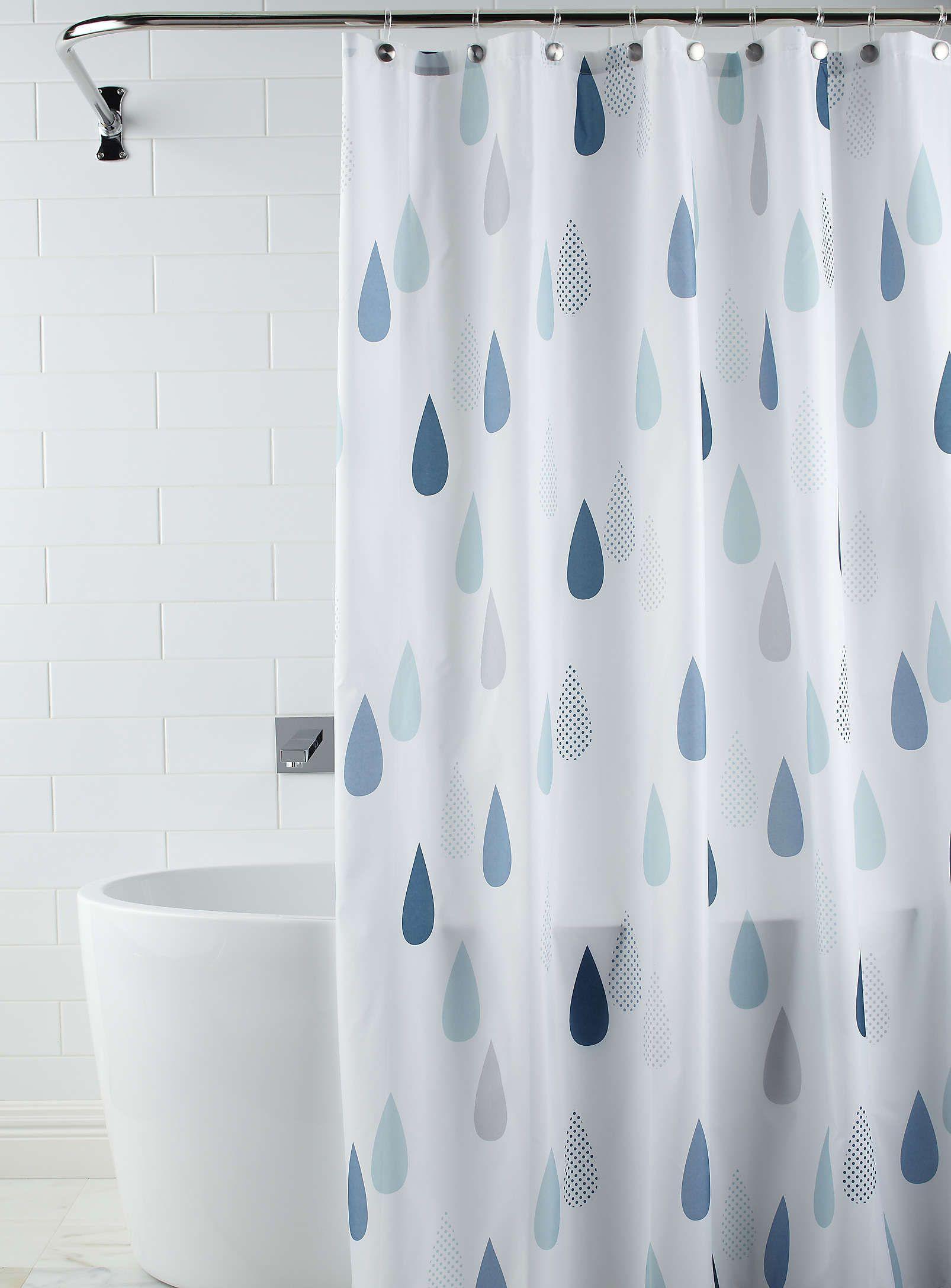 rideau de douche goutte d'eau