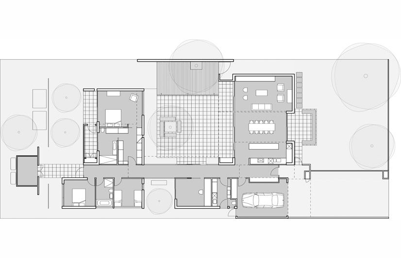 Contemporary courtyard house plans house design plans for Modern courtyard house designs