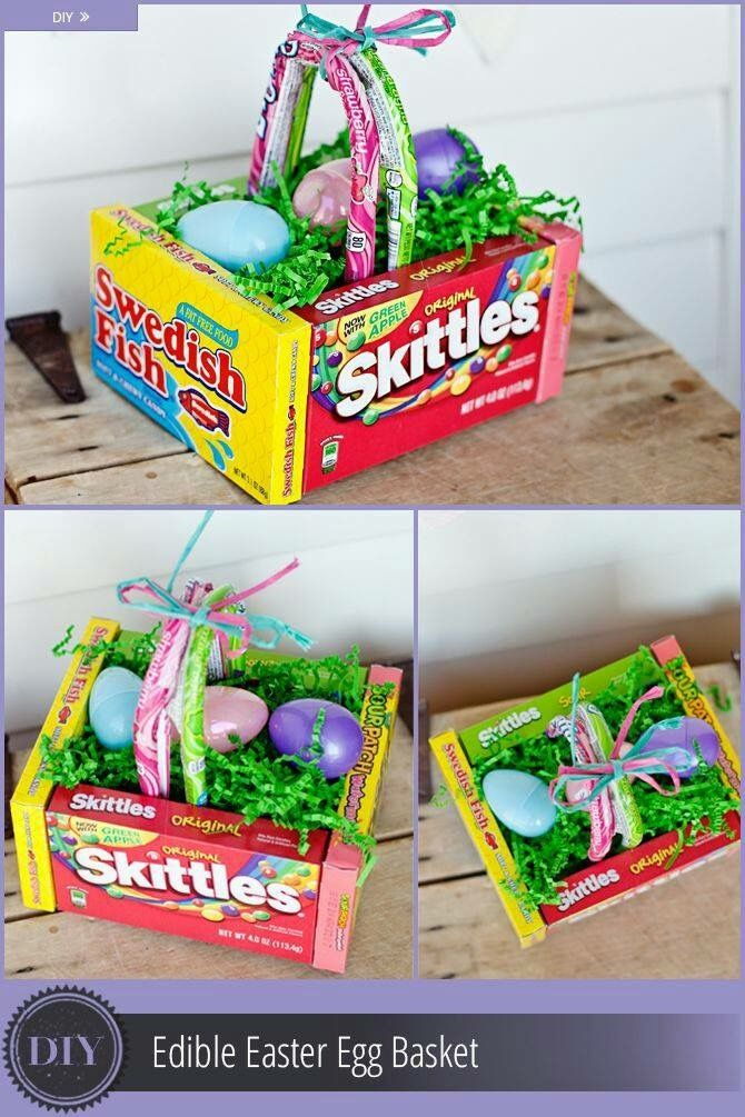 Make this for big game reward easter spring pinterest big easy to make easter basket with easter candy from dollar tree negle Images