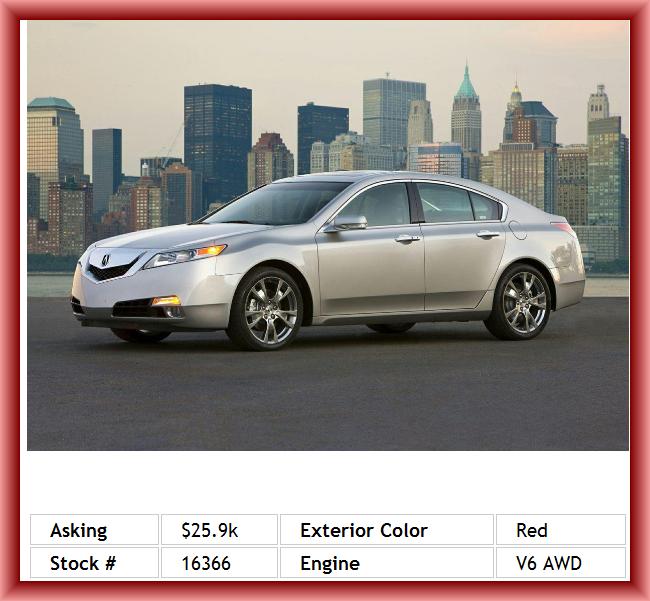 2011 Acura TL SH-AWD W/Tech Sedan Braking Assist, Keyless