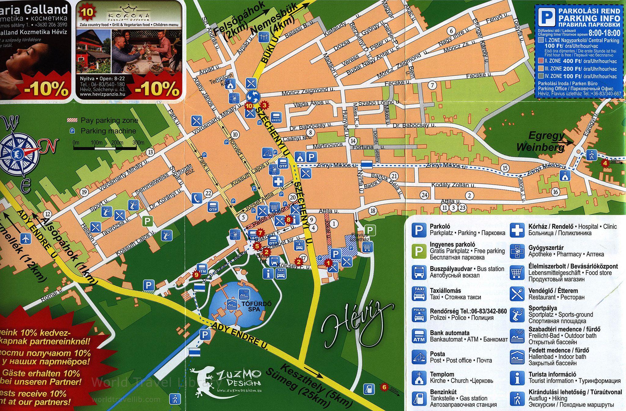 alsópáhok térkép Hévíz Térkép Stadtplan Map; 2017_2, Zala co., Hungary | Pinterest  alsópáhok térkép