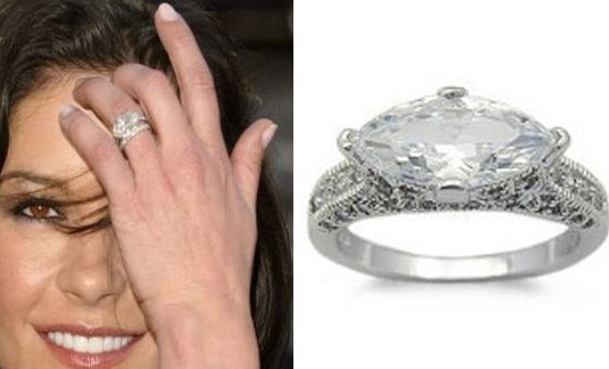 Catherine Zeta Jones This 10 Carat Monster Diamond Studded Fred Leighton Creation That Flickered On The Ringer Finger Of Was Enigmatic