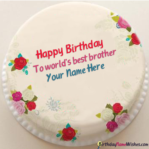 Beautiful Birthday Cake For Brother With Name Editing