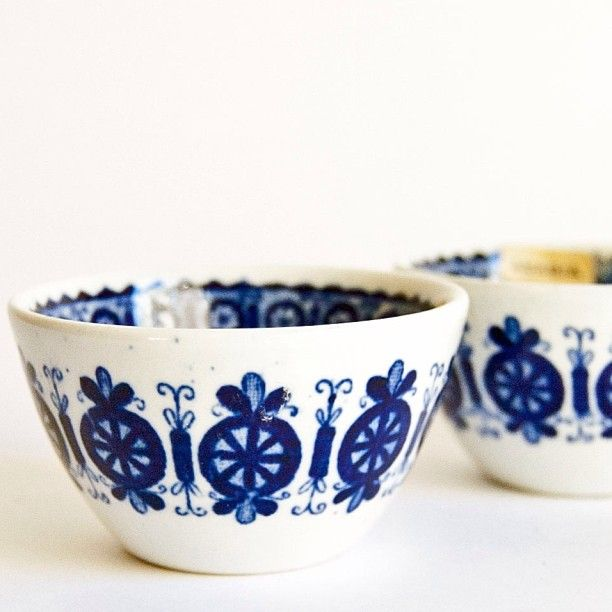 #arabiafinland candleholders pair #find #vintage #blue