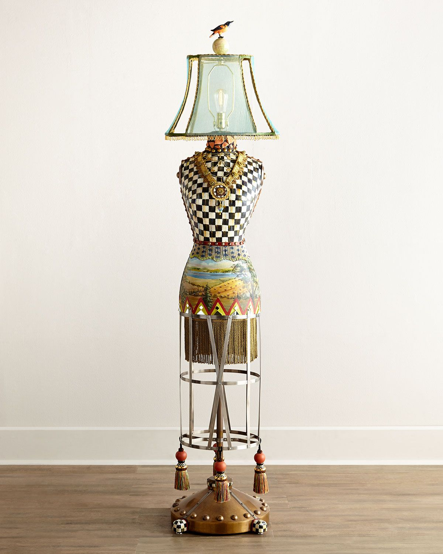 MacKenzie Childs Dressmakers Floor Lamp   Floor lamp, Lamp