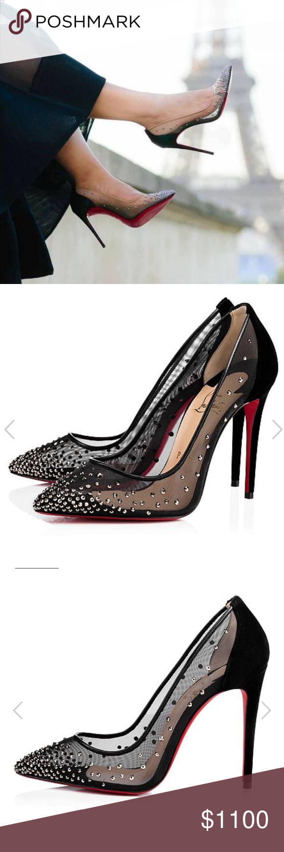 info for f1839 9df8c NEW • Christian Louboutin • Pigalle Follies Strass ...