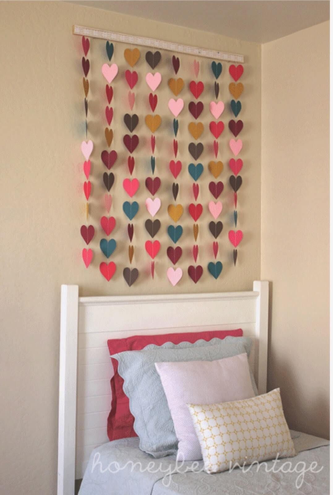 Diy Heart Cutout Wall Hanging Craft Ideas Diy Room Decor Diy