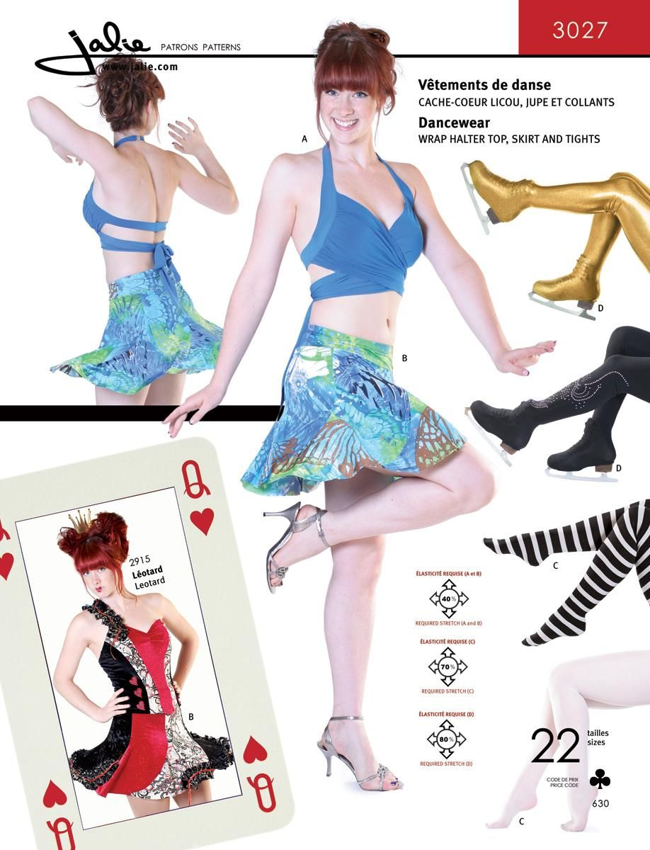 Dancewear Sewing Pattern for a cute halter and skirt set - including ...