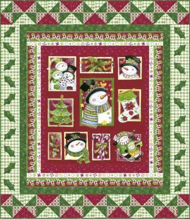 Free Quilt Patterns | ... Download for FREE | Product: Jolly ... : snowman rag quilt pattern - Adamdwight.com