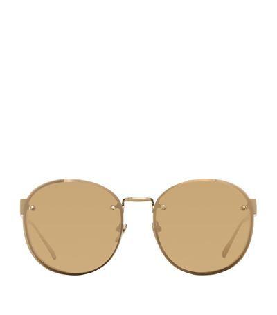 LINDA FARROW Oval Sunglasses. #lindafarrow #