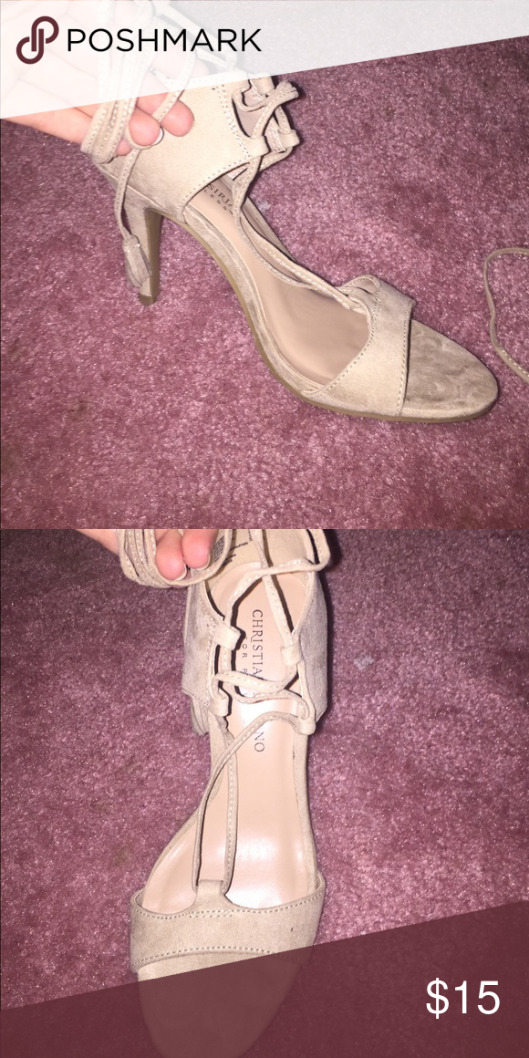 933e3baf9b3b Tan lace up heels. Lace Up HeelsShoes HeelsEaglesCurrently