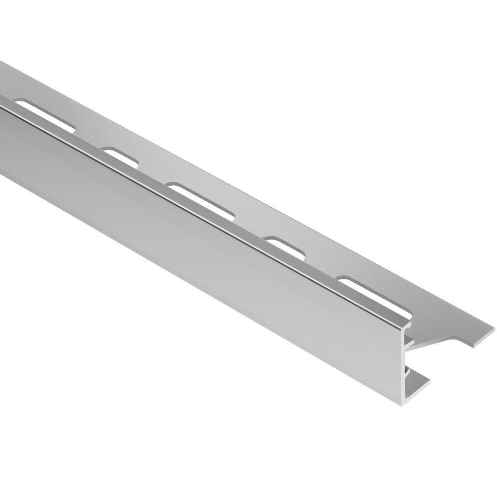 Schluter Schiene Aluminum 1 1 16 In X 8 Ft 2 1 2 In Metal L Angle Tile Edging Trim Flooring Tools Tile Edge Tiles