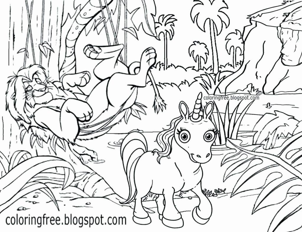 Unicorn Drawing Book Mark In