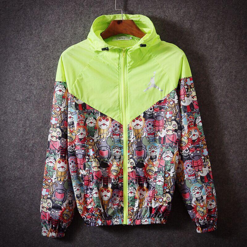 4dbbb0d92cc3 Men Jacket Autumn jordan jacket Patchwork Jacket Sport Hip Hop Outdoor  Waterproof Windbreaker Men Coat Trend Brand