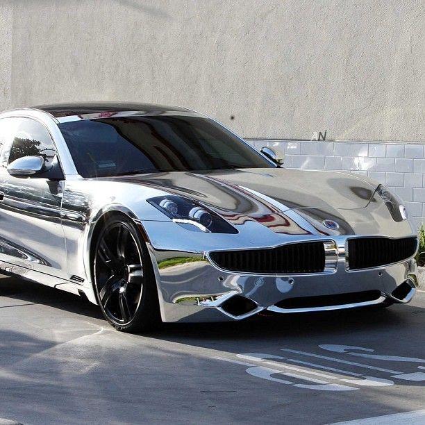 Badass Chrome Fisker Karma Sports Cars Luxury Celebrity Cars Super Cars