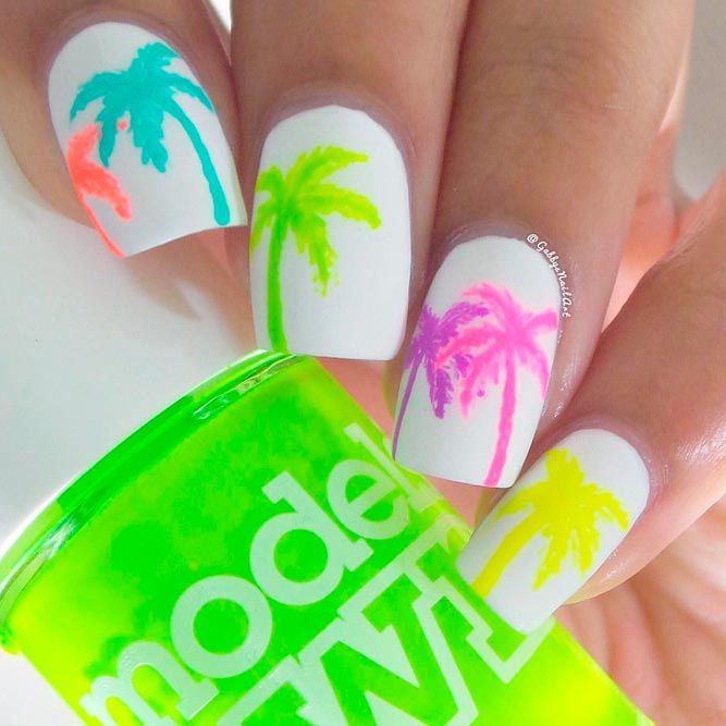 20 Tropical Nail Designs for the Summer | Pinterest | Uñas verano ...