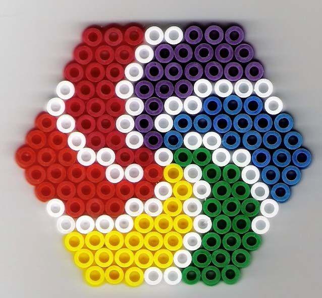 Sechseck Bugelperlen Hexa Perler Beads Strijkkralen Hama Onderzetters Strijkparels