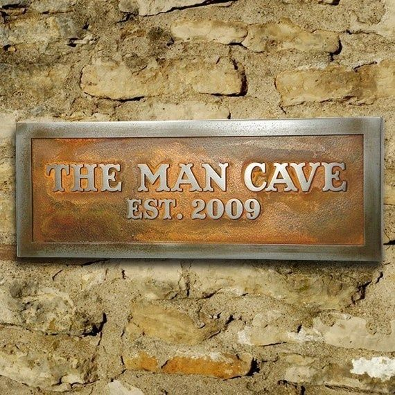 Personalized Man Room Sign, Man Cave Plaque for Him Custom 12x4 inches
