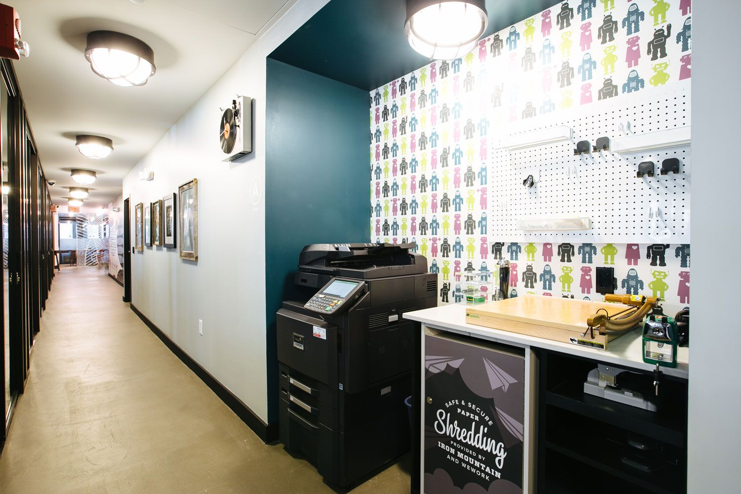 WeWork South Station Printing Coworking office space