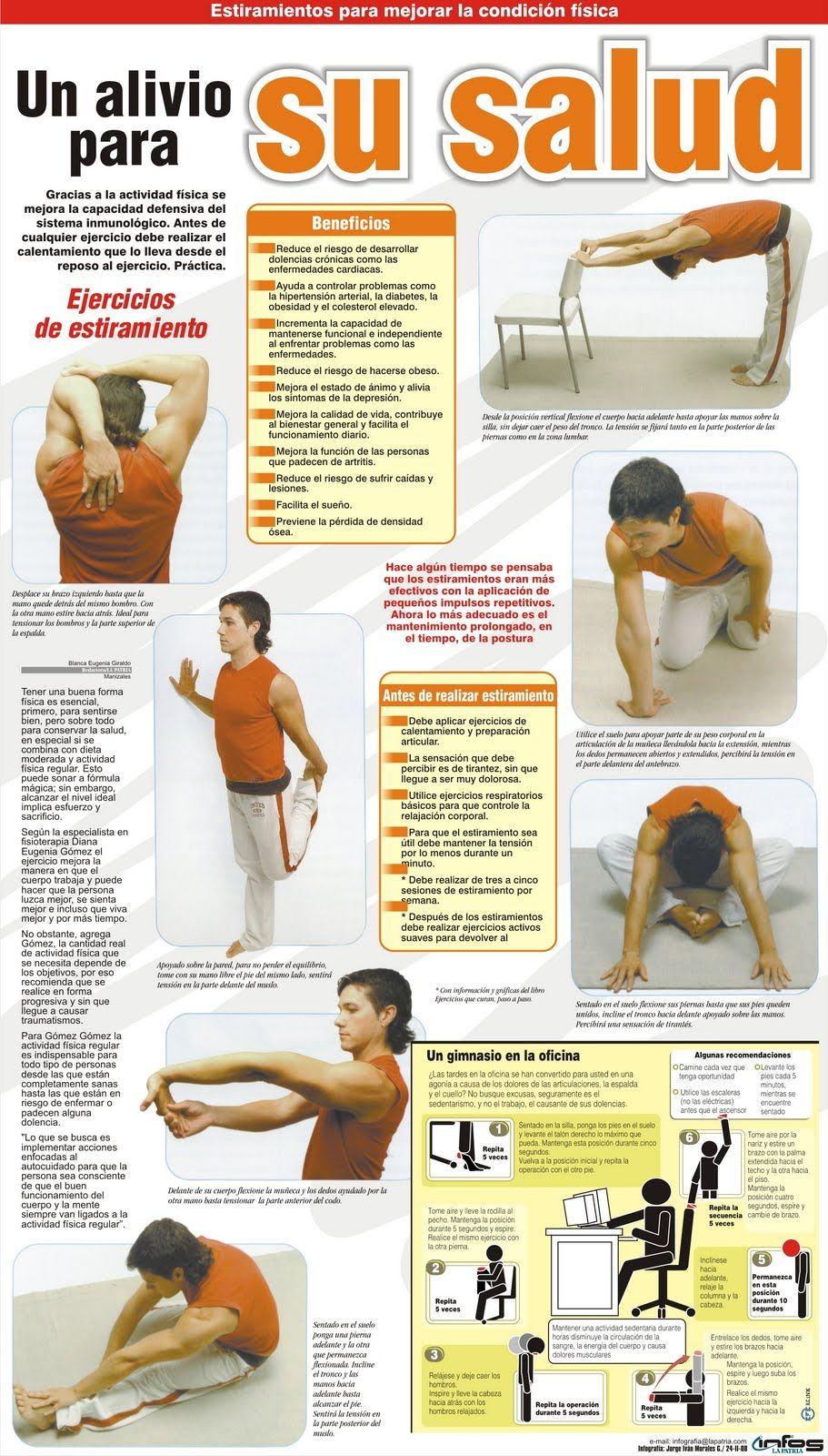 Un alivio para su salud ejercicios para la oficina salud for Ejercicios en la oficina