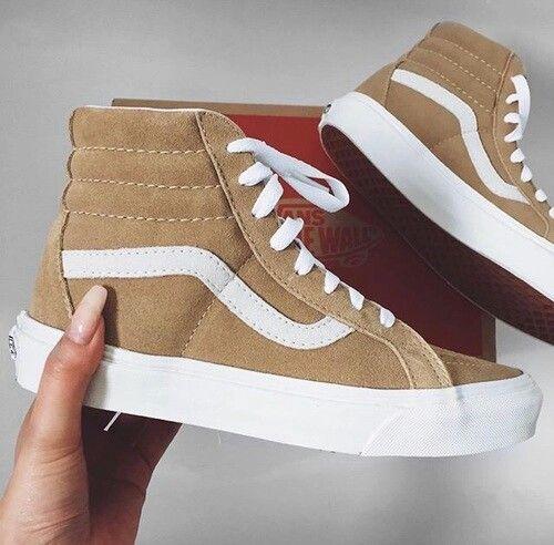 Tan Vans. | Me too shoes, Sock shoes, Shoes