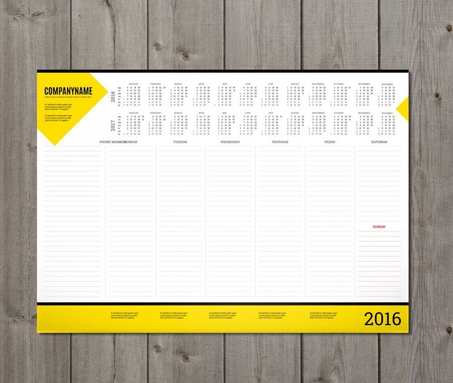 Weekly Deskpad Planner Template With Yearly Calendar Pt-W5