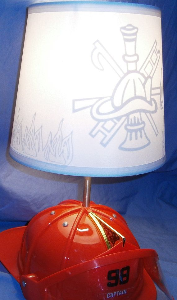 Firefighter lamp shade by devinfunkdesigns on etsy fire fighting firefighter lamp shade by devinfunkdesigns on etsy aloadofball Images