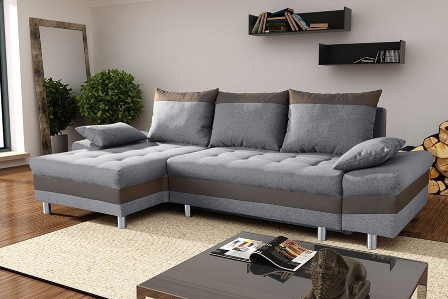 couchgarnitur couch sofa polsterecke punto 1 mit schlaffunktion mit federkern wohn esszimmer. Black Bedroom Furniture Sets. Home Design Ideas