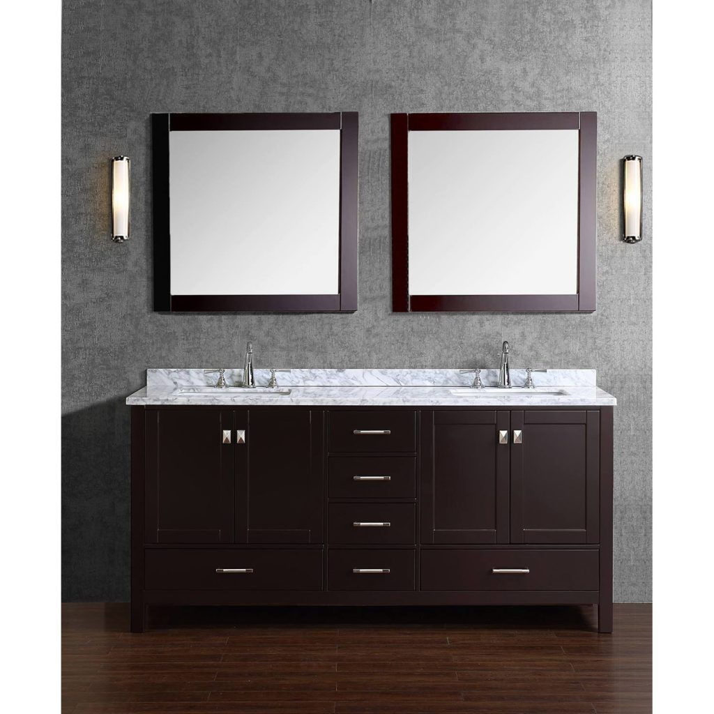 Double Vanity Bathroom Rugs solid wood double sink bathroom vanity | bath rugs & vanities