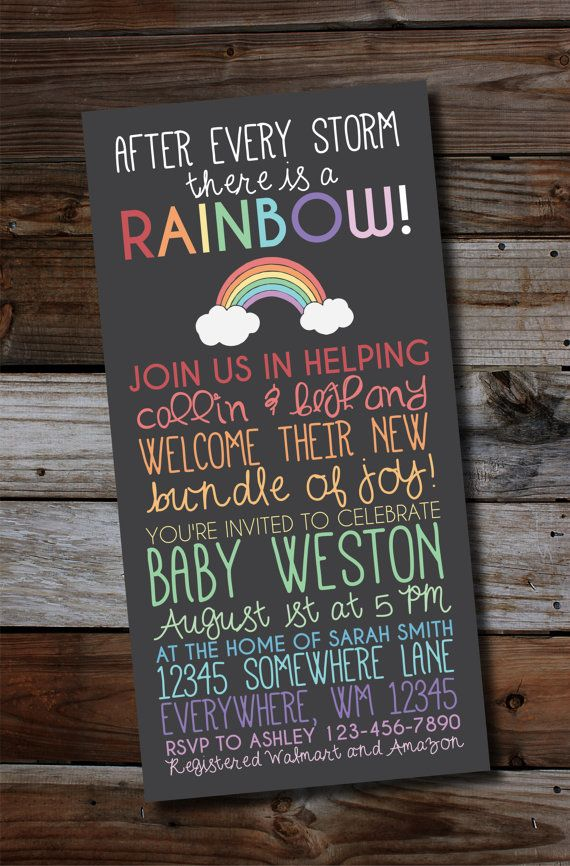 Rainbow baby. After a loss. Miscarriage. This rainbow baby shower ...
