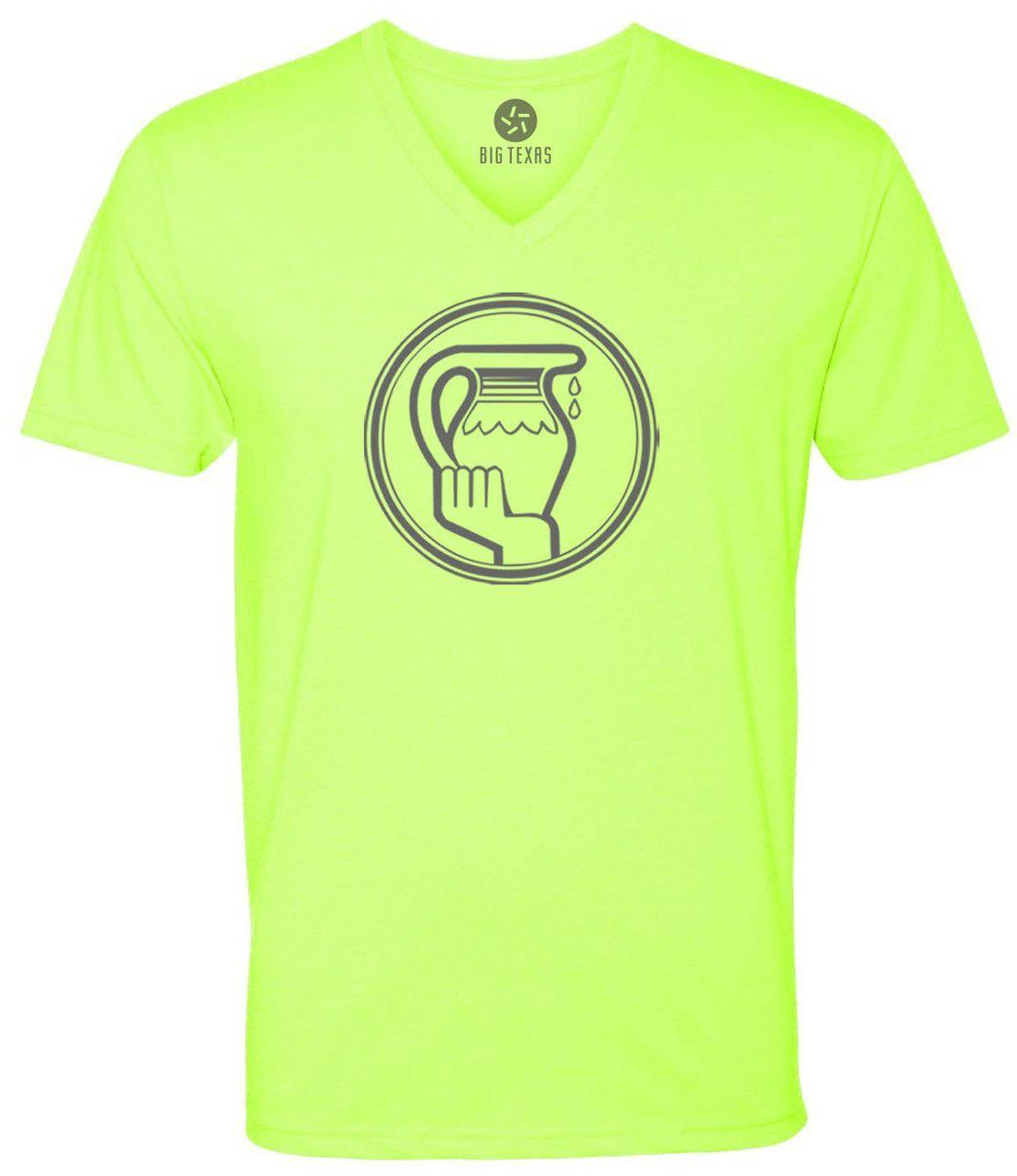 Sign of Aquarius (Grey) Short-Sleeve V-Neck T-Shirt